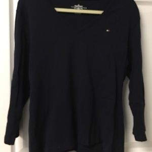 Navy Tommy Hilfiger long sleeve tshirt
